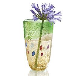 Silver Infused Millefiori Vase