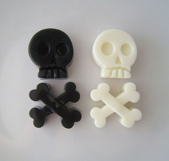 Skull and cross bones soap