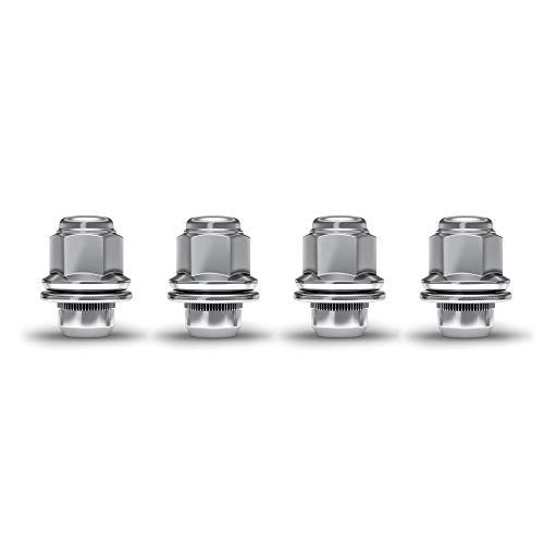 White Knight 5306 Chrome M12x1.25 Nissan OEM Factory Style Mag Lug Nut with Washer 4 Pack