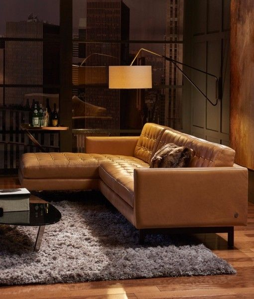 American Leather Parker leather sofa in 2019 | Leather couch ...