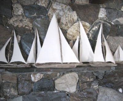 Drift wood Sail boats
