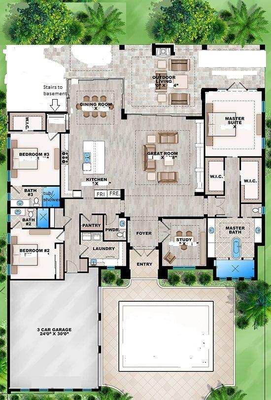 Floor Plan 1 Floor Plans House Blueprints Lake House Plans