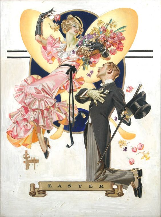 "browsethestacks: "" Easter by JC Leyendecker "" Happy Easter from JC Leyendecker!:"
