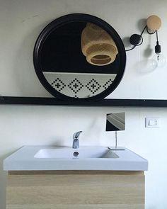 Bathroom IKEA mirror + picture ledge #ikeahack #muuto #muutodots #bathroom #diy