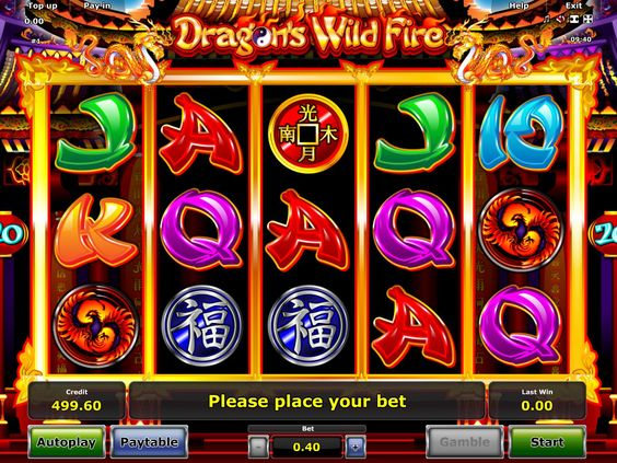 Dragon's Wild Fire - http://freeslots77.com/dragons-wild-fire/ - Are you interested in exploring the beliefs of the Chinese culture? Then playing Dragon's Wild Fire slot is the right decision. The game has been designed by Novomatic and has created a sensation among gamers. The game runs on 5 reels. For getting the best returns, play this game by selecting 20 ...