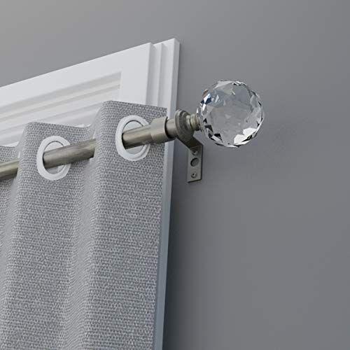 acrylic finials single curtain rod