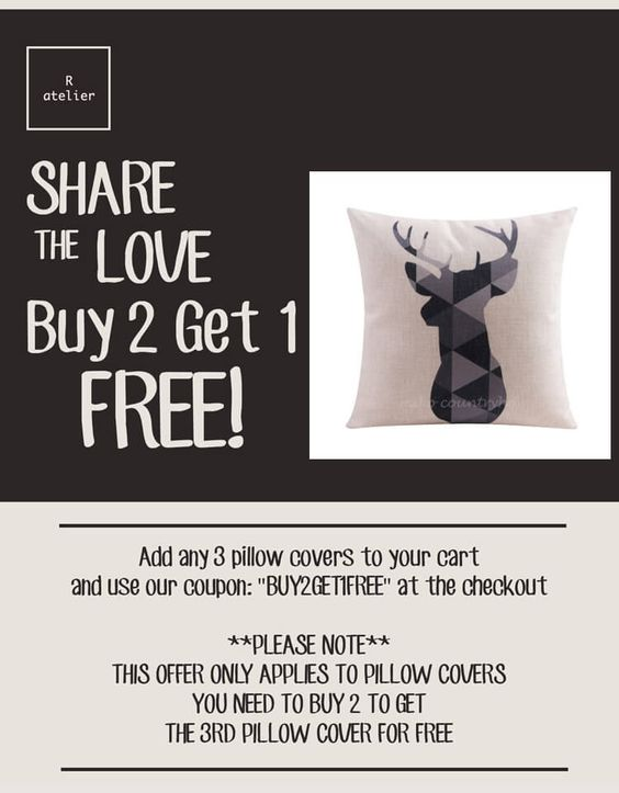 $15 | Deer Antler | Decorative Home Decor Pillow Cover #HomeDecor #PillowCover #ThrowPillows #DecorTrends #Decorate #GeometricArt #Geometrica #DeerAntler #BUY2GET1FREE #SALE
