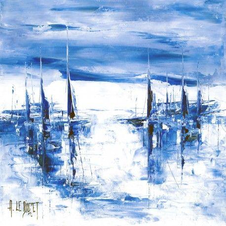 voilier lumière bleu 9