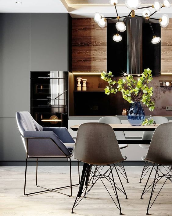 Polubienia 35 Komentarze 1 Unitrenderspace Unitrenderspace Na Instagramie 17m2 Kitchen And 5m2 Balcony Render By A Home Decor Dining Chairs Home
