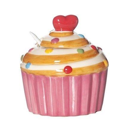 Açucareiro Love Cupcake - Mimos da Maria Presentes e Decoração