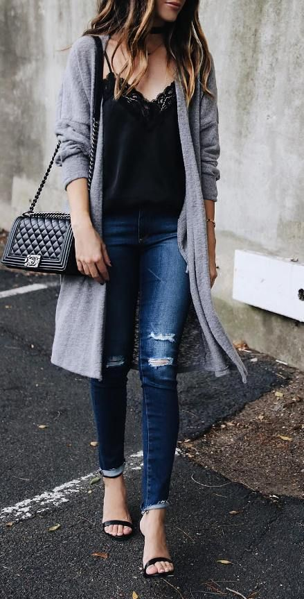 Best 25  Grey outfit ideas on Pinterest | Grey jumper outfit, Long ...