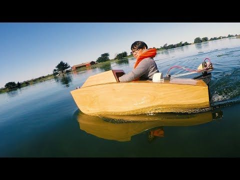 Electric Mini Boat Kit Cool Project For Kids If You Have 900