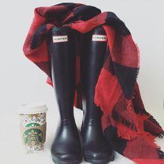 hunter boots #fall #fashion #clothing