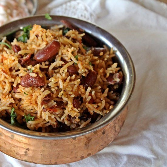 A Lovely One Dish Meal, With Rice And Red Kidney Beans A