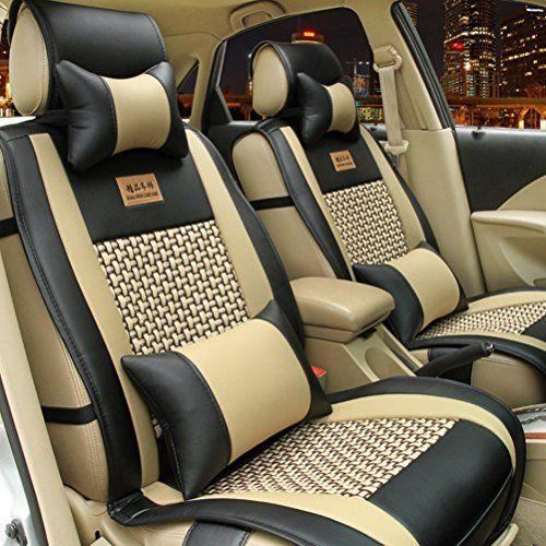 E Cowlboy Full Set 10pcs Needlework Pu Leather Front Rear Car Seat Cushion Cover Nissan Altima Maxima Frontier P Car Seats Car Seat Cover Sets Car Seat Cushion