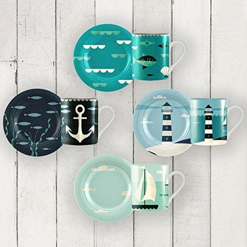 Magpie Coast Dessert Plates Set of 4 in gift box