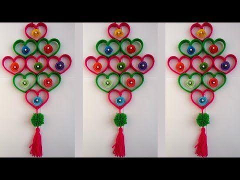 Diy Woolen Birds Wall Hanging For Home Decoration Woollen Bird