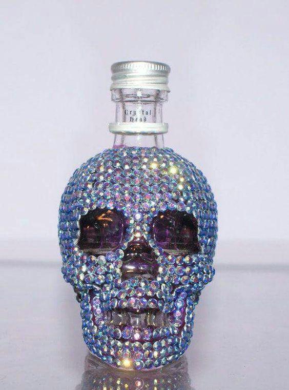 Crystal skull mini bottle