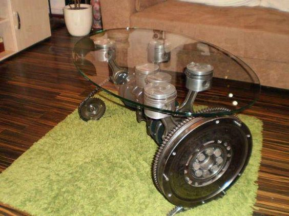 Car parts coffee table for the home pinterest caf for Car part coffee table