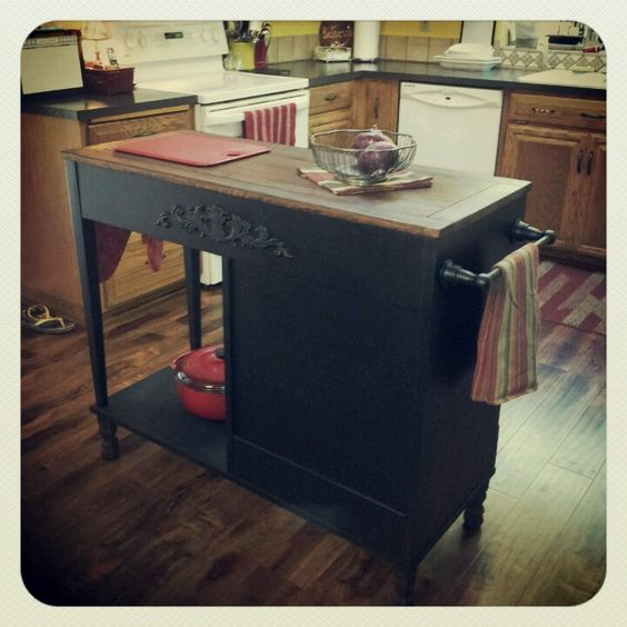 Kitchen Island Made From Old Desk: Old Desks, Kitchen Islands And Upcycle On Pinterest