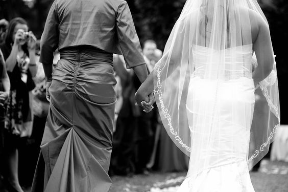 Mom walking bride down the aisle- I don't want anyone else to walk me