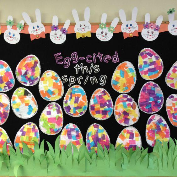 My Easter bulletin board