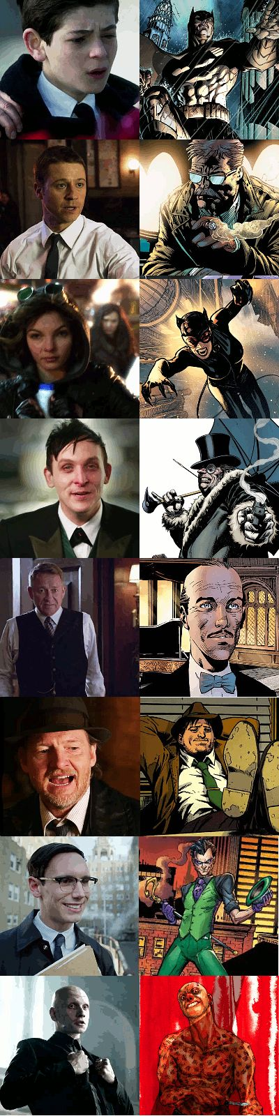 Gotham Characters - Series & Later Comic Version - gotham Fan Art