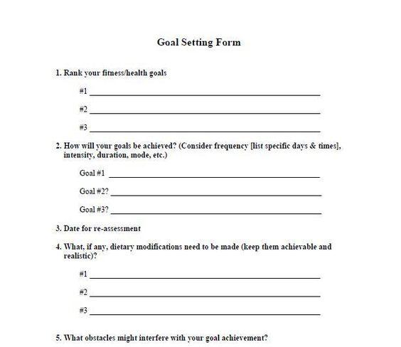 Fitness Goal Setting Form Fitness Goal Setting Fitness Goals Fitness Training Quotes Fitness goal setting worksheet