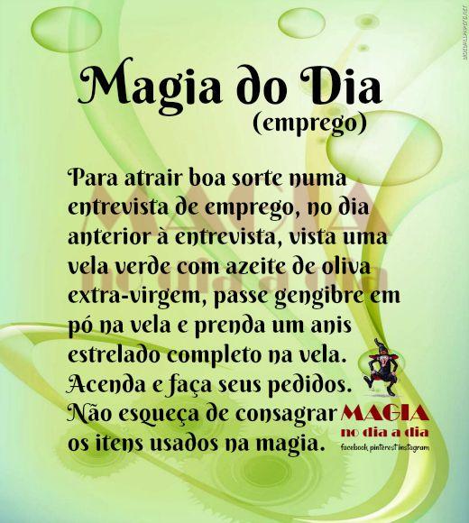Magia No Dia A Dia Magia Do Dia Entrevista De Emprego Magia