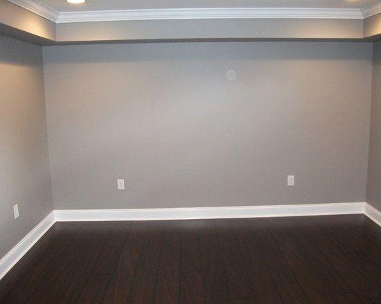 Dark Wood Laminate Flooring Design, Grey Laminate Flooring With Beige Walls