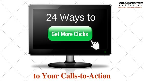 24 Ways to Get More Clicks to Your Calls-to-Action   Though overlooked by many, calls-to-action (CTAs) are powerful tools for every marketer. A call-to-action is the wording or graphic that guides users towards the next step in your goal conversion. How you construct it and where you place it can make a huge difference in creating conversions and generating leads.   #marketing #casestudies #Clicks #CallstoAction #Smallbusinesses #leadsgeneration