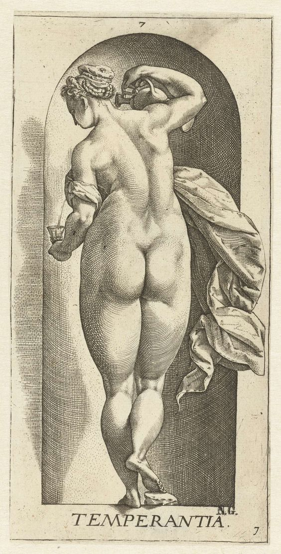 1578-1582 and/or 1658-1709,Matigheid, Hendrick Goltzius,after Hendrick Goltzius