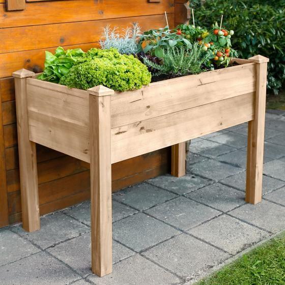 Hochbeet Patio 110x60x75 Cm Kiefernholz Online Kaufen Bei Gartner Potschke Hochbeet Garten Hochbeet Und Garten