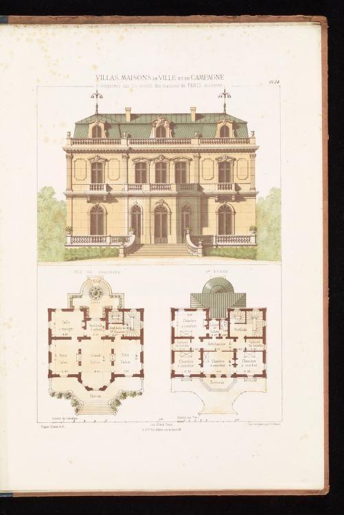 Villas Maisons De Ville Et De Campagne Compo Architecture Blueprints Vintage House Plans Architecture Concept Drawings