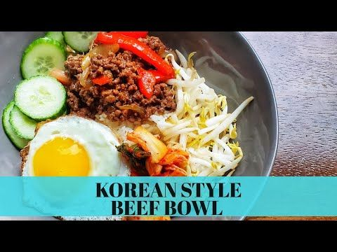 Korean Style Rice Bowl Recipe With Ground Beef Easy Ground Beef Recipes With Few Ingredients Youtube In 2020 Ground Beef Recipes Easy Bowl Recipes Easy Beef Recipes