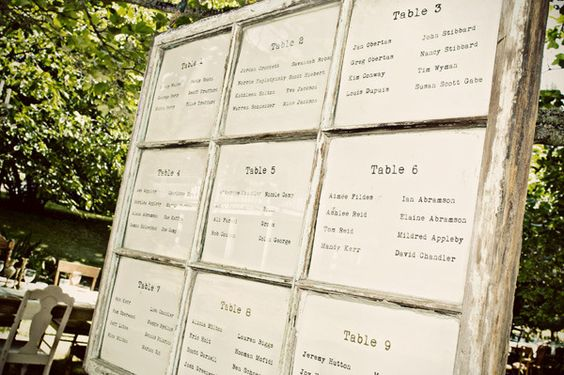 Reception Table Assignments