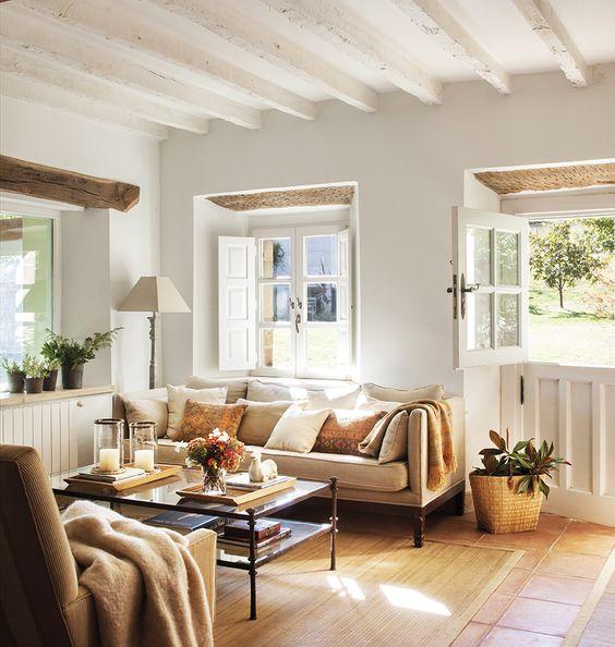 Alfombra para el salón con sofás encontrados