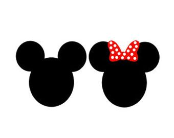 Mickey Mouse Minnie Monogram Frame Svg Dxf Jpeg Png File Instant