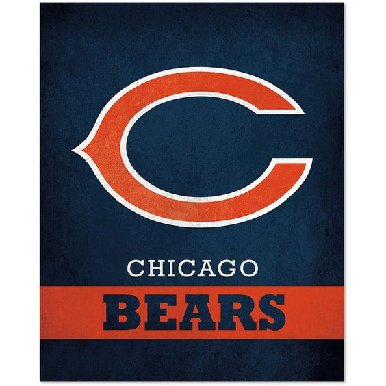 Chicago Bears Wall Art artissimo designs chicago bears pride logo wall art ($15) ❤ liked