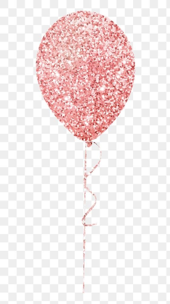 Glittery Pink Balloon Sticker Overlay Design Element Free Image By Rawpixel Com Donlaya In 2020 Pink Balloons Design Element Overlays