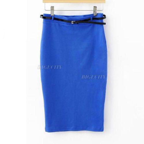 Fashion Summer Womens Ladies High Waist Midi Pencil Shortship sexy skirt Saias Skirts