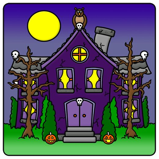 Haunted houses cartoon and house on pinterest Haunted house drawing ideas