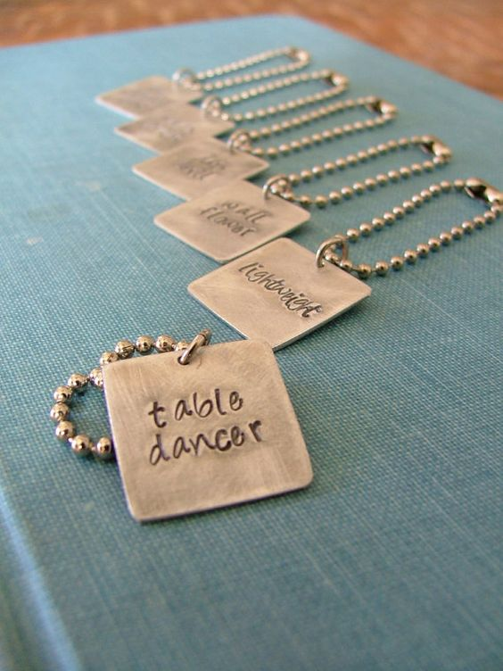 ONE SET Ships as is within 1 business day!  6 pc Set Party Animal Hand Stamped Wine Charms by MyBella  https://www.facebook.com/MyBellaByLizLollar#!/MyBellaByLizLollar