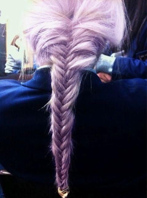 lilac braid.: Hair Obsession, Purple Braid, Purple Hairstyles, Fishtail Braids, Hair Style, Hair Color, Hair Inspiration, Colorful Hairstyles