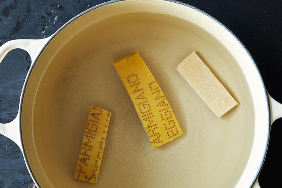 6 ways to use parmesan rinds - food52.  They are especially good in white bean soup. freeze them. (js)