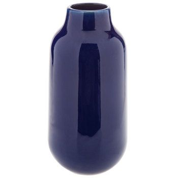 Blue Crackled Vase - Large