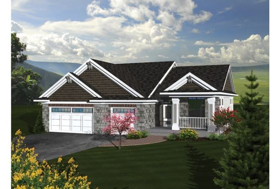 HWEPL76179 PRIMARY STYLE:Ranch BEDROOMS:3 BATHS:2 STORIES:1 GARAGE BAYS:3 LIVING AREA:1,867 sq. ft. WIDTH/DEPTH:52' x 59'