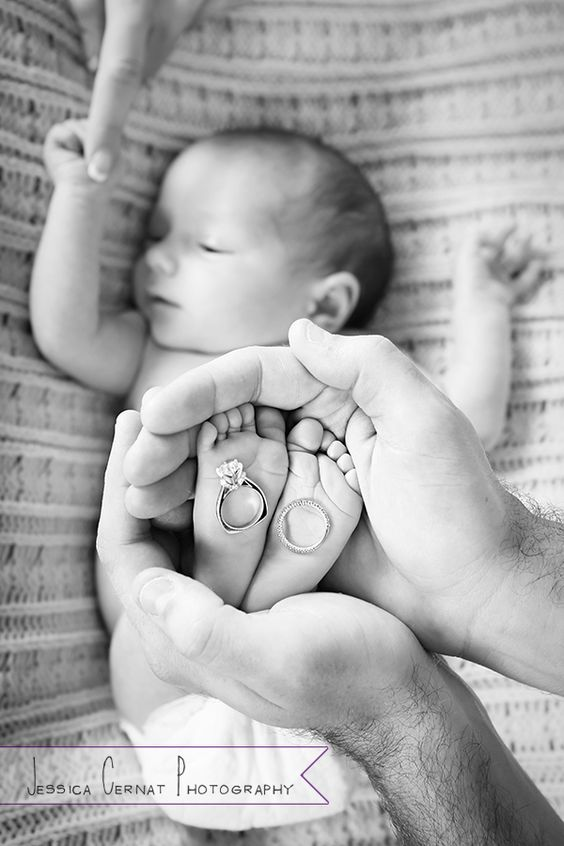Cute rings and baby feet shot--I haven't seen one done this way before! -- { Dallas Newborn Photographer, Jessica Cernat } Emily is 2 weeks!