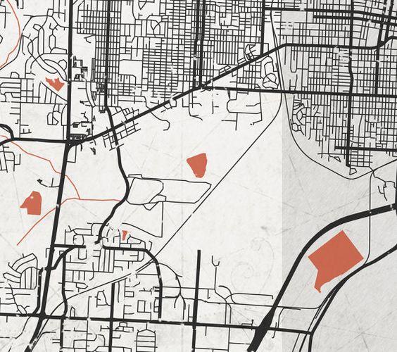 LITTLE ROCK AR Canvas Print Arkansas Vintage map Little Rock City
