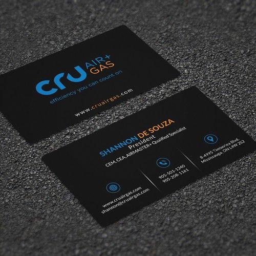 Cru Air Gas Business Card Design Project Business Card Contest Design Business Card Shannona Business Card Design Premade Logo Templates Card Design